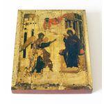 Благовещение Пресвятой Богородицы, Андрей Рублев, доска 13*16,5 см - Иконы