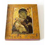 Владимирская икона Божией Матери, XII в, доска 13*16,5 см - Иконы