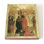 Воскрешение Лазаря, Андрей Рублев, 1405 г, икона на доске 13*16,5 см - Иконы