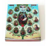 Древо Пресвятой Богородицы, икона на доске 13*16,5 см - Иконы