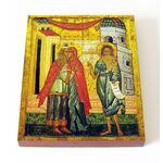 Зачатие Иоанна Предтечи, Целование Елисаветы, доска 13*16,5 см - Иконы