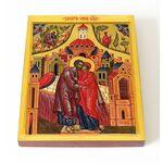 Зачатие Пресвятой Богородицы, икона на доске 13*16,5 см - Иконы