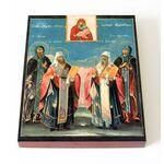 Иоанн, Феодор, Евфимий и Евфросиния Суздальские, доска 13*16,5 см - Иконы