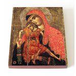"""Киккская икона Божией Матери """"Милостивая"""", XIII-XIV вв, доска 13*16,5 - Иконы"""