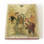 Крещение Господне, Андрей Рублев, 1405 г, икона на доске 13*16,5 см - Иконы