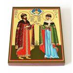 Благоверные князья Петр и Феврония Муромские, доска 13*16,5 см - Иконы