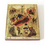 Рождество Христово, XV в, печать на доске 13*16,5 см - Иконы