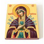 Икона Божией Матери «Семистрельная», печать на доске 13*16,5 см - Иконы