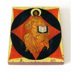 Спас в силах, Ярославль, XVI в, икона на доске 13*16,5 см - Иконы