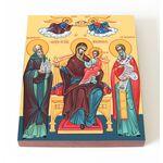 """Икона Божией Матери """"Экономисса"""", печать на доске 13*16,5 см - Иконы"""
