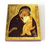 Ярославская икона Божией Матери, XV в, печать на доске 13*16,5 см - Иконы