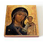 Казанская икона Божией Матери, поп Тимофей, 1649 г, печать на доске - Иконы