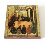 Тайная Вечеря, Андрей Рублев, 1425-1427 г, икона на доске 14,5*16,5 см - Иконы