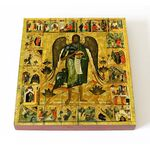 Святой Иоанн Предтеча Ангел пустыни с житием, доска 14,5*16,5 см - Иконы