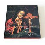 Ахтырская икона Божией Матери, печать на доске 14,5*16,5 см - Иконы