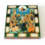 Девять мучеников Кизических, XVIII в, икона на доске 14,5*16,5 см - Иконы