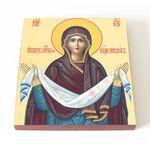 Покров Пресвятой Богородицы, печать на доске 14,5*16,5 см - Иконы