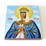 Равноапостольная княгиня Ольга, икона на доске 14,5*16,5 см - Иконы