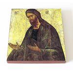 Святой Иоанн Предтеча, XV в, доска 14,5*16,5 см - Иконы