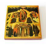 Собор Пресвятой Богородицы, Великий Устюг, XVI в, доска 14,5*16,5 см - Иконы