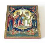 """Троица Новозаветная """"Отечество"""", икона на доске 14,5*16,5 см - Иконы"""