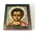 Христос Эммануил, икона на доске 14,5*16,5 см - Иконы