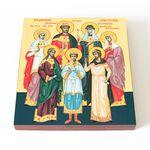 Святые царственные страстотерпцы, икона на доске 14,5*16,5 см - Иконы