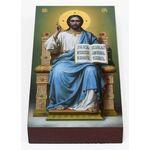 Спас на престоле, икона на доске 7*13 см - Иконы