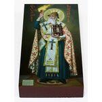 Святитель Спиридон Тримифунтский ростовой, икона на доске 7*13 см - Иконы
