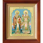 Николай Чудотворец и Алексий Московский, икона в киоте 14,5*16,5 см - Иконы