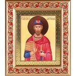 Благоверный князь Александр Невский, икона в рамке с узором - Иконы