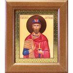 Благоверный князь Александр Невский, широкая рамка 14,5*16,5 см - Иконы