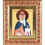 Равноапостольная княгиня Ольга, икона в широкой рамке с узором - Иконы