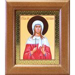 Мученица Татиана Римская, икона в широкой деревянной рамке 14,5*16,5 см - Иконы