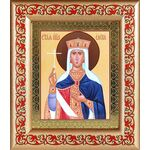 Равноапостольная царица Елена, икона в рамке с узором - Иконы