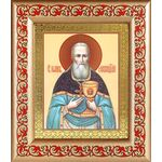 Праведный Иоанн Кронштадтский, икона в широкой рамке с узором - Иконы