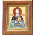 Праведный Иоанн Кронштадтский, икона в широкой деревянной рамке - Иконы