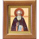 Преподобный Александр Свирский, икона в широкой рамке 14,5*16,5 см - Иконы