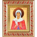 Мученица Фотина Самаряныня Римская, икона в рамке с узором - Иконы