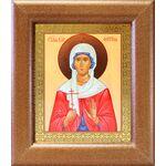 Мученица Фотина Самаряныня Римская, икона в широкой рамке 14,5*16,5 см - Иконы