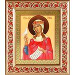 Великомученица Ирина Македонская, икона в рамке с узором - Иконы