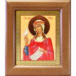 Великомученица Ирина Македонская, икона в широкой рамке 14,5*16,5 см - Иконы