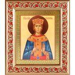 Великомученица Екатерина Александрийская, в рамке с узором 14,5*16,5см - Иконы