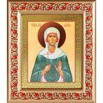 Мученица Дария Римская, икона в деревянной рамке с узором - Иконы