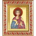 Мученик Вонифатий Тарсийский, икона в рамке с узором 14,5*16,5 см - Иконы