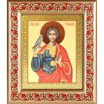Мученик Трифон Апамейский, икона в широкой рамке с узором - Иконы