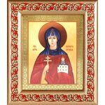 Преподобная Евфросиния Полоцкая, икона в широкой рамке с узором - Иконы