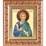 Апостол Андрей Первозванный, икона в широкой рамке с узором - Иконы