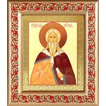 Илия Пророк, икона в широкой рамке с узором - Иконы