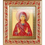 Праведная Анна, икона в широкой рамке с узором - Иконы